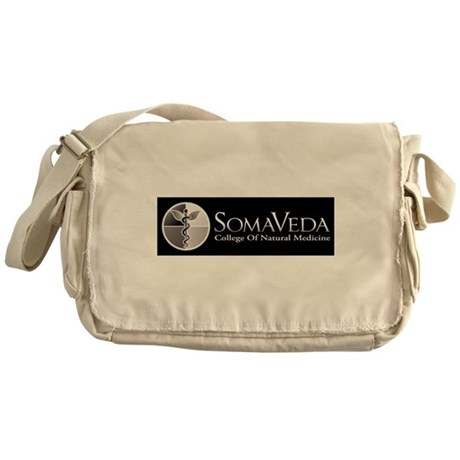 SCNM School Logo BW Messenger Bag