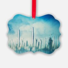Mirage around an oil field - Ornament