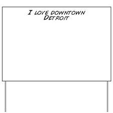 Unique Downtown detroit Yard Sign
