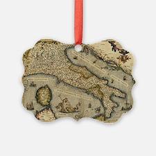 Ortelius's map of Italy, 1570 - Ornament