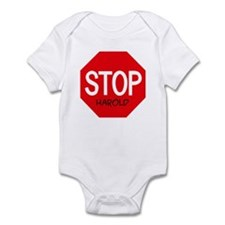 Stop Harold Infant Bodysuit