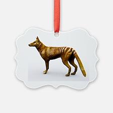 Tasmanian wolf, computer artwork - Ornament