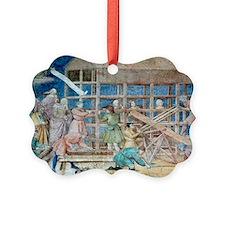 Building Noah's Ark, 14th century fresco - Ornament