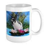 Buttercup Bunny on Lily Pads 2-Large Mug