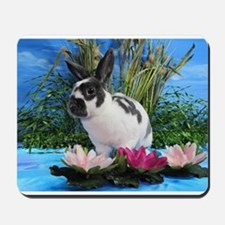 Buttercup Bunny on Lily Pads 2-Mousepad