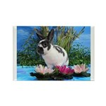 Buttercup Bunny on Lily Pads 2-Rectangle Magnet