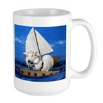 Kirby and Dexter Sailing Large Mug