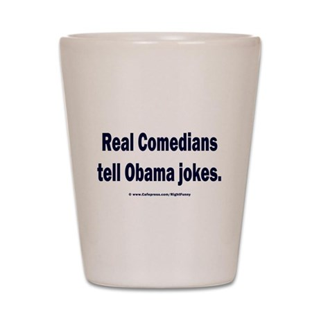 Real Comedians Shot Glass