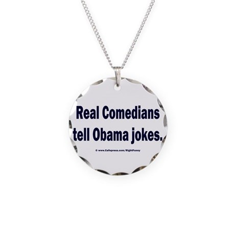 Real Comedians Necklace Circle Charm