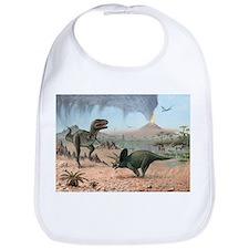 Late Cretaceous life, artwork - Bib