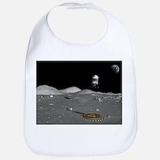 Lunar shuttle landing, artwork - Bib