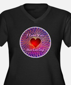 I Love You More Each Day Women's Plus Size V-Neck