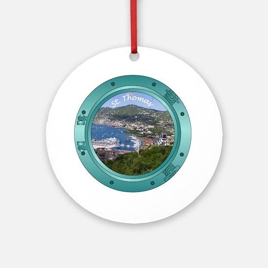 St Thomas Porthole Ornament (Round)