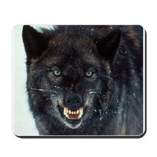 scary wolf Mousepad