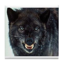scary wolf Tile Coaster