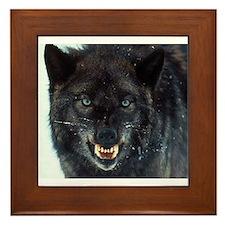 scary wolf Framed Tile