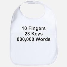 TEXT 10 Fingers 23 ... Bib