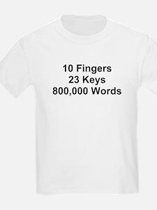 TEXT 10 Fingers 23 ... T-Shirt