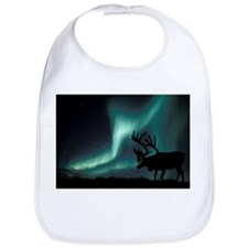 Aurora borealis and caribou - Bib