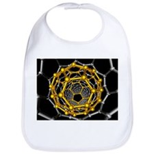 Carbon nanotube and buckyball, artwork - Bib
