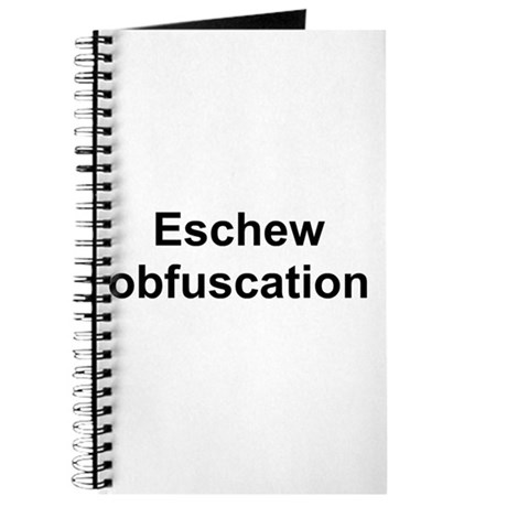 TEXT Eschew Obfusca Journal by steno ts
