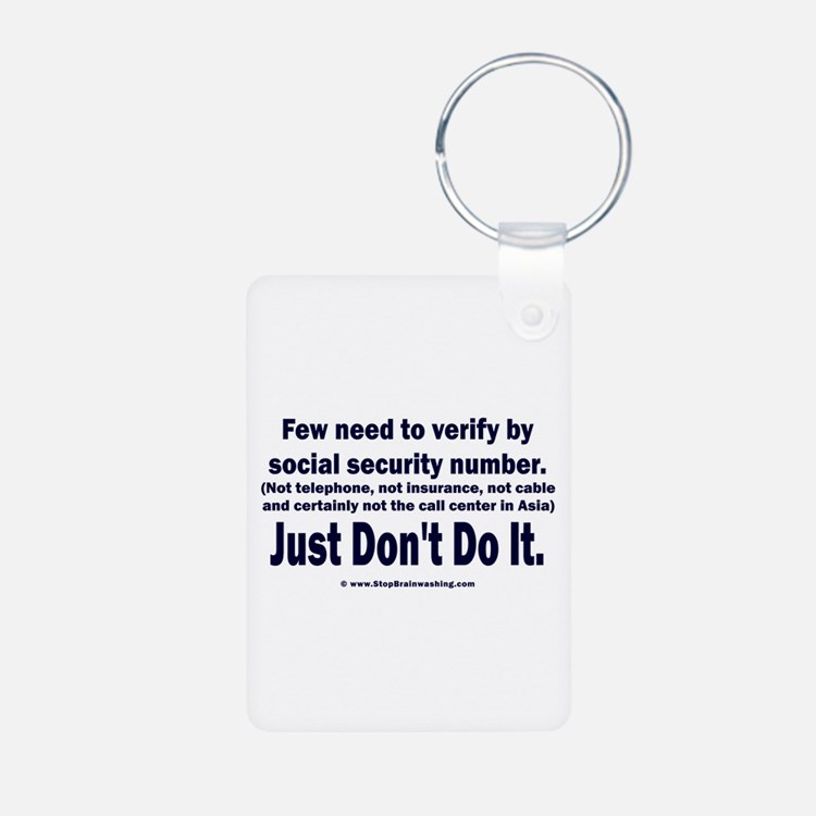 Just Don't Do It Keychains