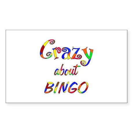 Crazy About Bingo Sticker (Rectangle)