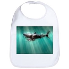 Megalodon shark and great white - Bib