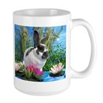 Buttercup Bunny on Lily Pads-1 Large Mug