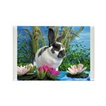 Buttercup Bunny on Lily Pads-1 Rectangle Magnet