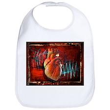 Human heart, artwork - Bib