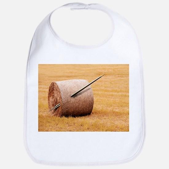 Needle in a haystack, conceptual artwork - Bib