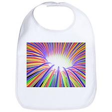 Multicoloured light ray funnel, artwork - Bib