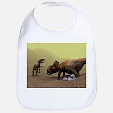 Protoceratops dinosaur defending eggs - Bib