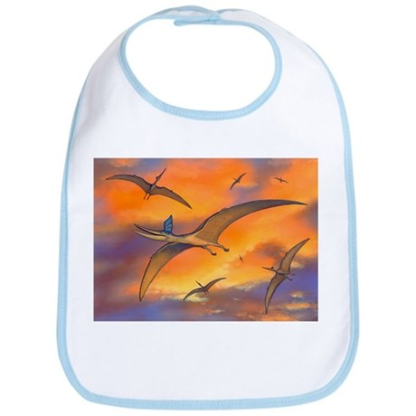 Pterosaur flying reptiles, artwork - Bib