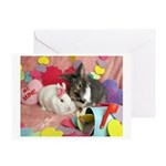 Olivia and Skyler, Valentine Bunnies Greeting Card