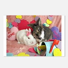Olivia and Skyler, Valentine Bunnies Postcards (Pa