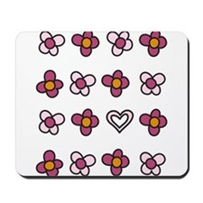 Flowers And Hearts Mousepad