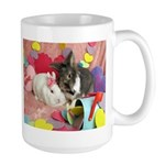 Olivia and Skyler, Valentine Bunnies Large Mug