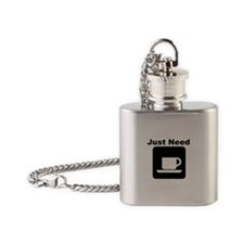 Just Need Coffee Flask Necklace