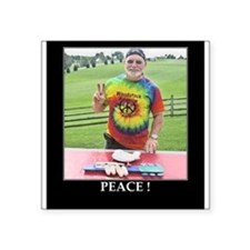 "Peace at Woodstock Monument Square Sticker 3"" x 3"""