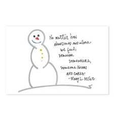 Caring Snowman Postcards (Package of 8)