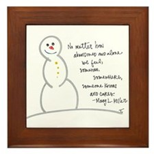 Caring Snowman Framed Tile