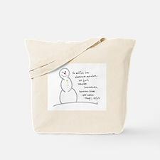 Caring Snowman Tote Bag