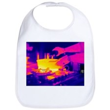 Cooking on a gas stove, thermogram - Bib