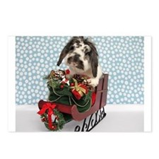 Dudley in Winter Sleigh Postcards (Package of 8)