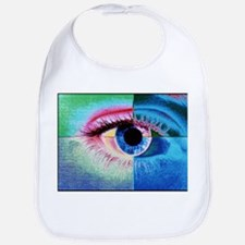 Computer graphic image of a human eye - Bib