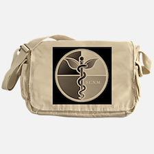 SCNM Logo BW Large Messenger Bag