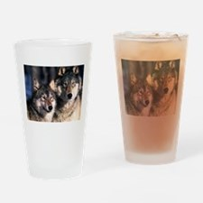 two wolf Drinking Glass