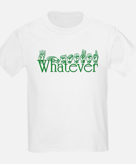 Whatever in ASL T-Shirt